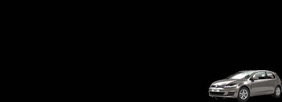 Afbeelding van een vw golf voor de hoofdanimatie op de pagina