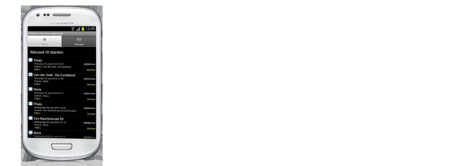 Android device met RitMeter