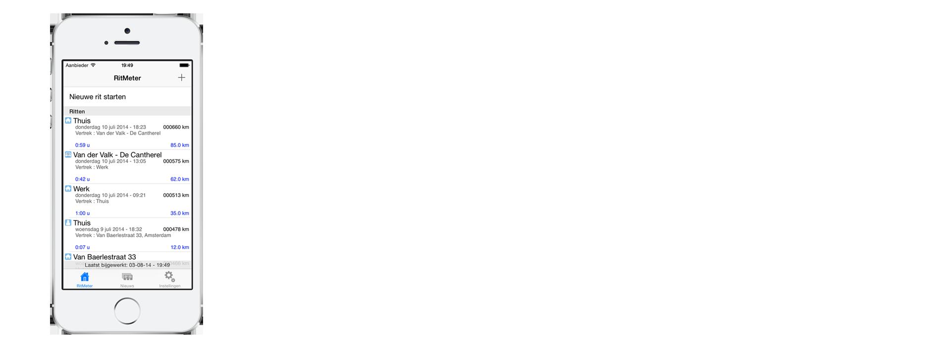 iOS device met RitMeter