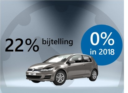 Volkswagen Golf 22 % bijtelling in 2018