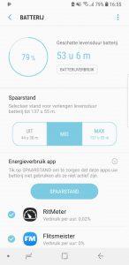 Het nieuwe Spaarstand menu in Android 8