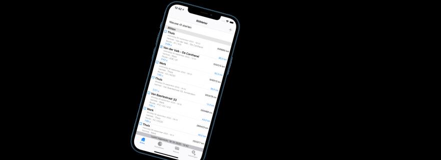 Kilometerregistratie op jouw iPhone